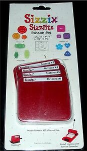 Sizzix Sizzlits 4-Die BUTTON SET - I combine shipping!