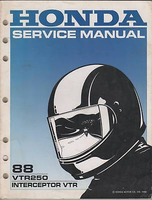 1988 Honda Motorcycle Vtr250 Service Manual