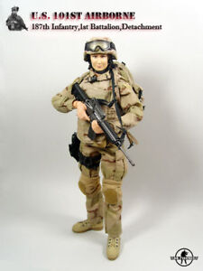 Dr.FIGURES US 101st Airborne Female Soldier w// Head Set 1//6 NO Body /& Weapons