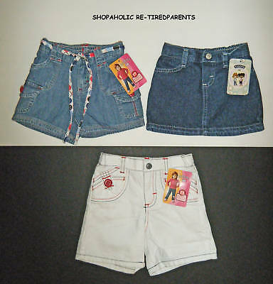 SHORTS-or-SKIRTS-RIDERS-DENIM-BLUE-or-WHITE-INFANT-18-MO-or-TODDLER-2T-NWT