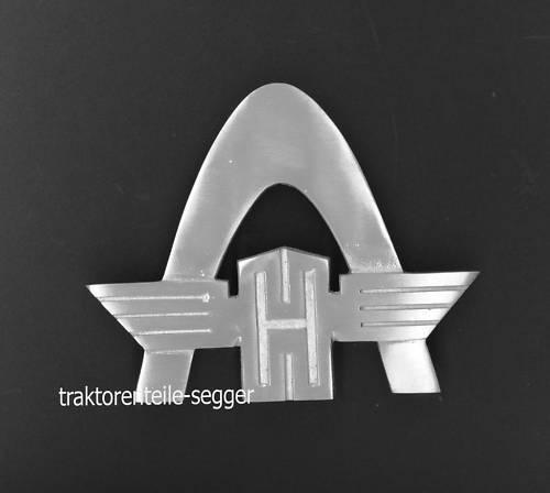 Rheinstahlbogen Kühleremblem Emblem groß  Brillant Robust Traktor Schlepper Foto 1