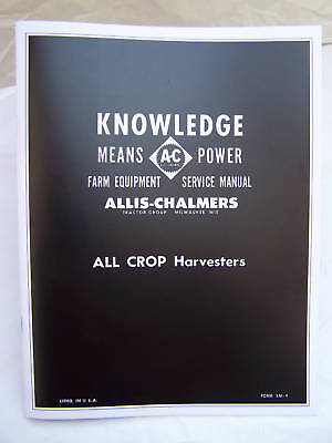 Allis Chalmers All Crop Dealer Service Shop Manual~NICE