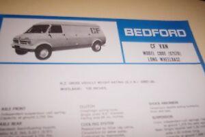 BEDFORD-1973-CF-Van-LWB-Spec-Sheet-GM-NZ