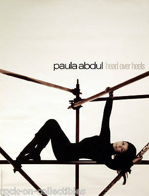 PAULA ABDUL 1995 HEAD OVER HEELS ORIGINAL PROMO POSTER