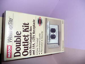 Mason-WeatherTite-Double-Outlet-Kit-K312-NEW-IN-BOX