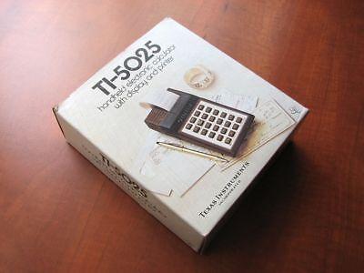 NEW in BOX RARE Vintage 1978 NOS Green-VFD TI-5025 printing calculator