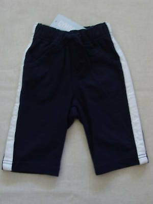 Gymboree Crab Shack Navy Blue White Stripe Pant 0-3 Baby Boy Spring Fall