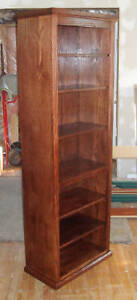 New Oak Bookcase, handmade from real wood