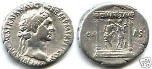 TRAJAN-98-117-CISTOPHORE-Rv-ROMA-ET-AVG-TEMPLE-RARE