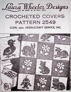 2549 Vintage LW Filet CRIB/CARRIAGE SET Pattern to Crochet (Reproduction)