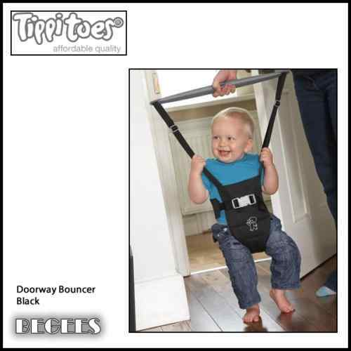 Brand new in box Tippitoes Doorway Bouncer for age 3 to 15 months in black DB5
