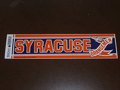 SYRACUSE COLLEGE BUMPER STICKER VERY COLORFUL