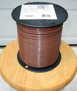 THHN/THWN 500 Ft. #10 AWG Solid Copper Wire- Brown | eBay