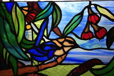 Australian Gumnut & Blue Wren Stained Glass Window Custom Built, Reno & Building