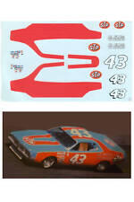 #43 1974 Richard Petty STP Charger decal 1/64 scale AFX Lifelike Tyco Autoworld