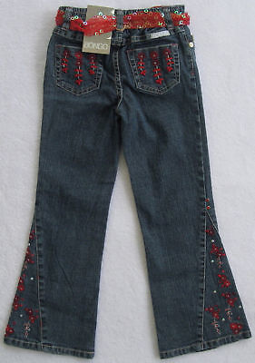 Bongo Girls Blue Jeans With Red & Silver(size 4)