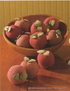 NEW-Park-Designs-Traditional-Country-Fabric-Apples-S-6
