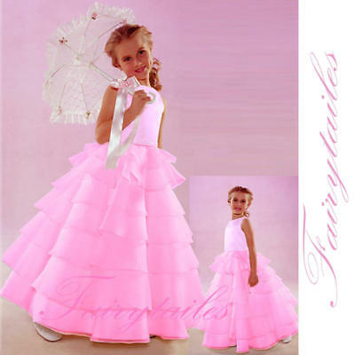 Flower Girl Pink Wedding Easter Dress Size 3t 3