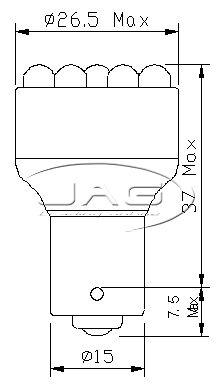12V-19-LED-BAY15D-RED-1157-STOP-TAIL-AUTOMOTIVE-GLOBE-Car-Auto-Caravan-RV-Bulb