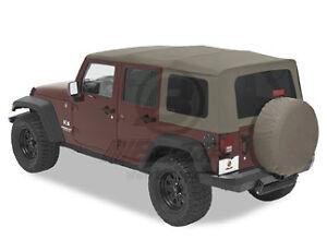 2010 2012 jeep wrangler jk unlimited khaki replacement soft top. Black Bedroom Furniture Sets. Home Design Ideas