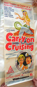 CARRY ON CRUISING ORIGINAL VINTAGE POSTER VERY RARE