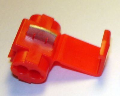 100 RED 22-16 AWG SCOTCHLOK INSTANT TAP WIRE CONNECTORS