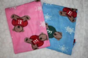 REBORN DOLL Fleese Teddy Bear Blankets
