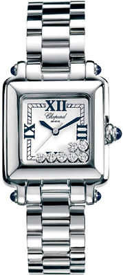 Chopard Happy Sport Stainless Steel Floating Diamonds