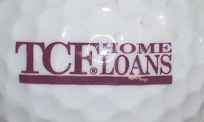1  Tcf  Bank  Logo Golf Ball Balls