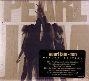 PEARL JAM TEN  DELUXE 2 CD + DVD MTV UNPLUGGED 1992