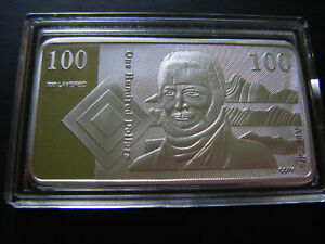 999 Silver Layered 1oz Bar -