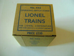 Lionel-445-Operating-Switch-Tower-Box-w-two-inserts