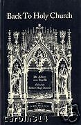 Back to Holy Church by Dr. von Ruville Catholic Convert Vintage Reprint 1914