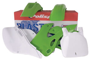 New Polisport Plastic Kit Set Green Complete  KAWASAKI KX250 KX125 1999–2002