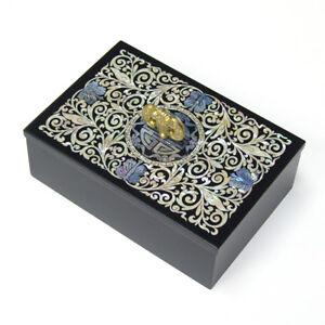 porte cartes de visite bo te bois nacre fourniture bureau luxe chauve souris ebay. Black Bedroom Furniture Sets. Home Design Ideas