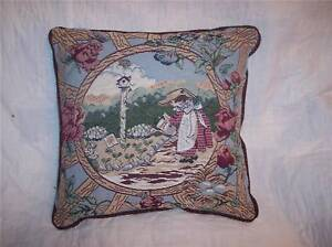 Girl-amp-Garden-Print-Pillow-Burgundy-Back-16-x-16-PL29