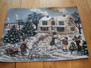 Snowman-Print-Fabric-Upholstery-Fabric-for-Pillow