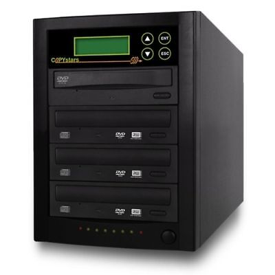 Cd Dvd Duplicator 1 To 3 Copier 20x Burner Duplicators