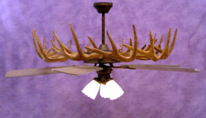 antler ceiling fan light, deer chandelier, lampscdn #r54 | ebay