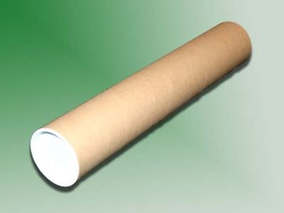 """20 - 2"""" x 36"""" Carboard Mailing Shipping Tubes w/ End Caps"""