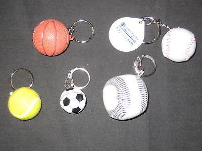 5 diff Sports Ball  keychains                 de1