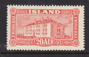 Iceland Sc 146 MLH. 1925 20a vermillion Museum F-VF