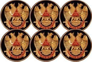 Masonic-32nd-Degree-Car-Auto-Emblem-Six-Pack-Black-SRA-2-6