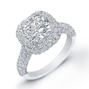 image is loading 4 23 ct cushion cut diamond engagement ring - Square Cut Wedding Rings