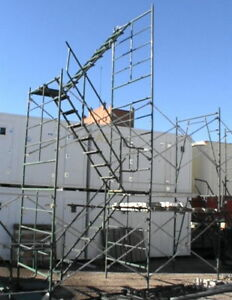 Image Is Loading Stairwell Temporary Stairway Scaffold Stairs 38 039 High