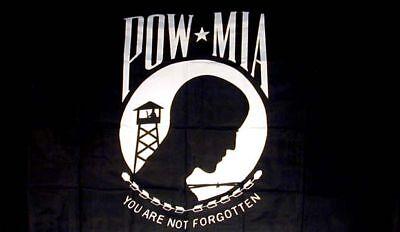 Pow Mia Flag Military Item War Banners Novelty Flags 3x5 Powmia Sign Decor