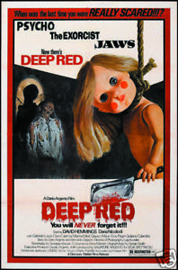 Deep Red Dario Argento  cult horror movie poster print