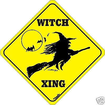 Witch/broom Xing Sign