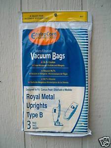 15 Royal Upright Type B Vacuum Cleaner Allergy Bags Ebay