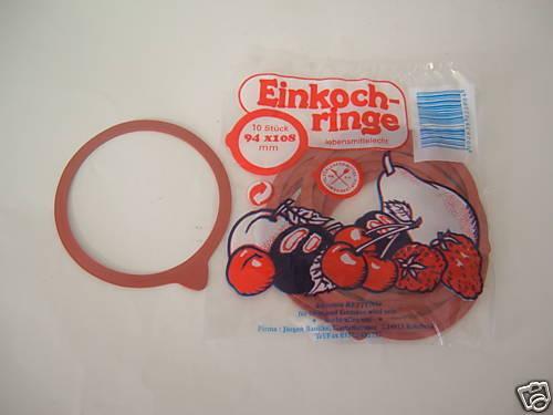 100 Stck Einkochringe,Einweckringe,Einkoch-Ringe 94x108 rot